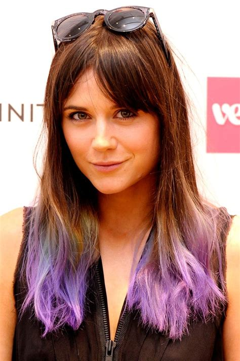 7 Tips For Dying Your Hair Brown by 25 Best Ideas About Purple Dip Dye On Purple