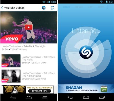shazam identify download any music around you android ios
