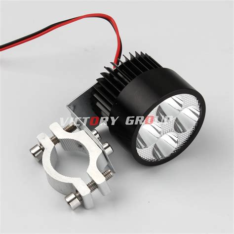 1pcs led daytime running light 12v 80v spot motorcycle motor bike atv drl bright aluminum
