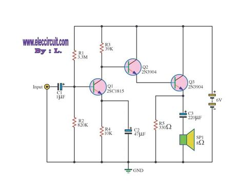 transistor guitar lifier circuit lifier circuits with transistors 2sc1815 circuit wiring diagrams