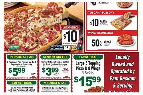 coupons pizza hut 2018