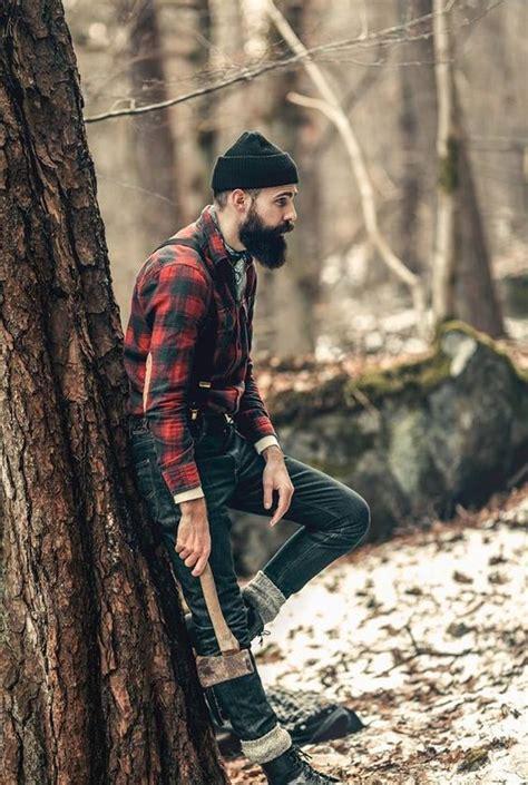 lumberjack style patrik jonasson thick black beard handsome