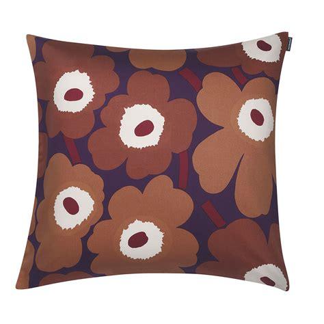 Marimekko Pillow by Marimekko Unikko Violet Copper Throw Pillow Marimekko
