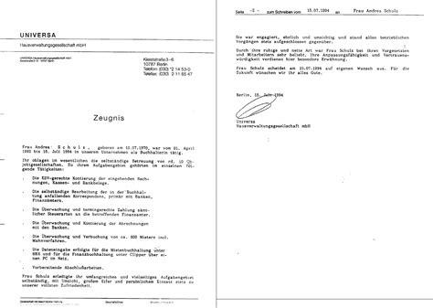 Bewerbung Zeugnisse Bewerbung Andrea Wolkwitz