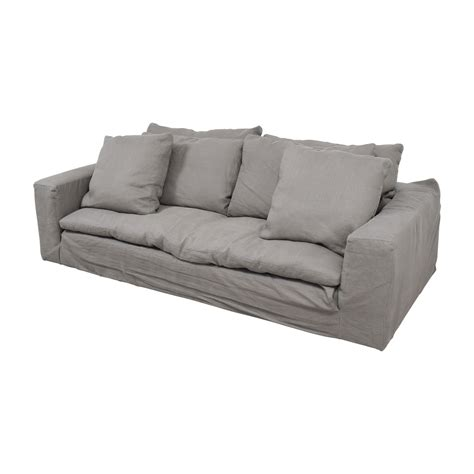 used restoration hardware sofa 82 off restoration hardware restoration hardware grey