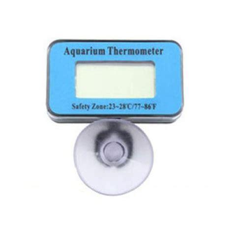 Mini Digital Thermometer Waterproof Probe Hitam mini digital lcd aquarium fish tank waterproof temperature