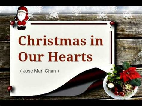 christmas songs jose mari chan lyrics in our hearts jose mari chan