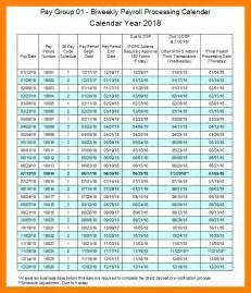 Pay Calendar 6 2018 Payroll Calendar Resume Sections