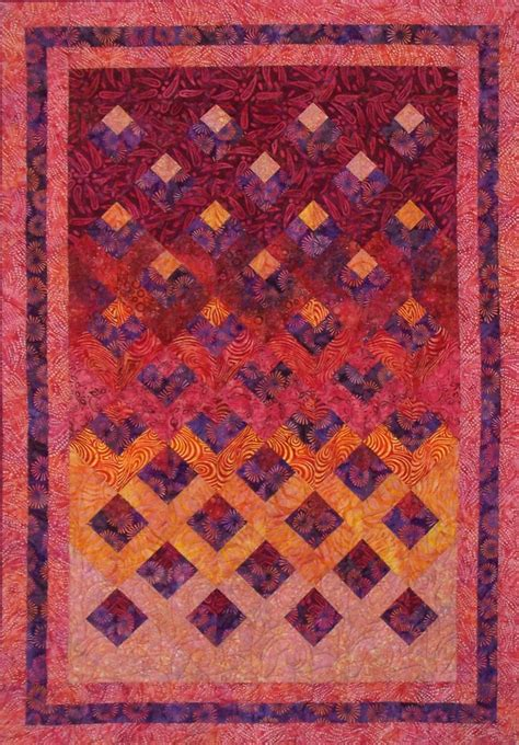 batik pattern simple reflections quilt pattern created for artisan batiks at