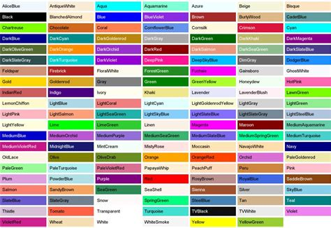 colors enumeration