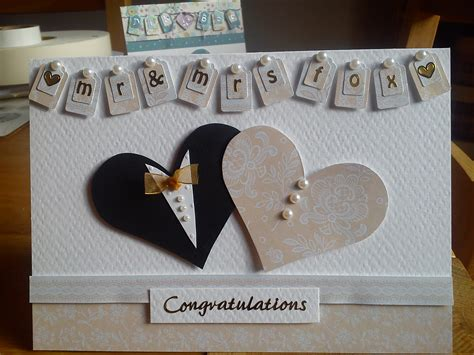 Personalised Wedding Cards Handmade - personalised handmade wedding card i made for a friend