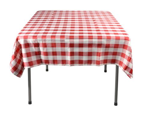 red white tablecloth checkered cover