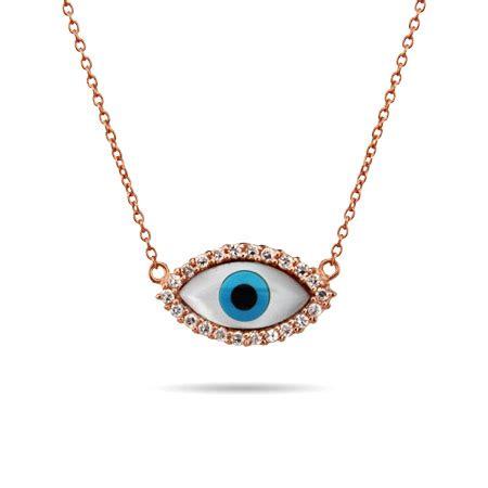 Evil Eye Jewellery by Gold Vermeil Cz Evil Eye Necklace