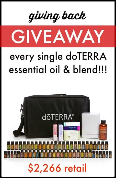 Doterra Giveaway - giving back doterra giveaway the elliott homestead