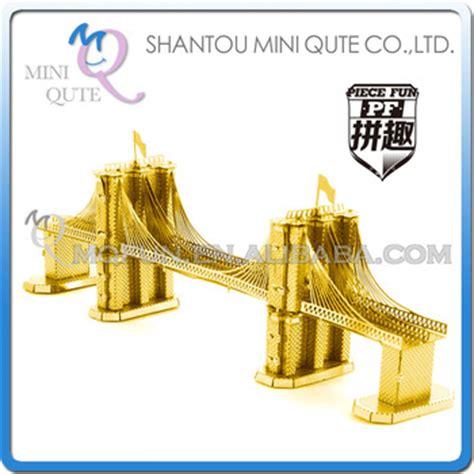 Mini 3d Metal Puzzle Ancient Architecture 3d metal puzzle world architecture golden bridge assemble model