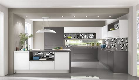 komplett küchen küchenzeile k 252 che grau wei 223 holz