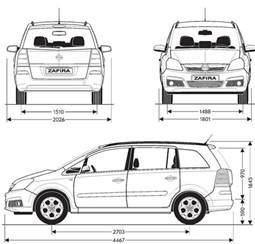 Opel Zafira Interior Dimensions Tutorials3d Blueprints Opel Zafira