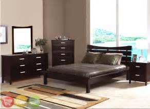 contemporary bedroom sets cherry finish modern set