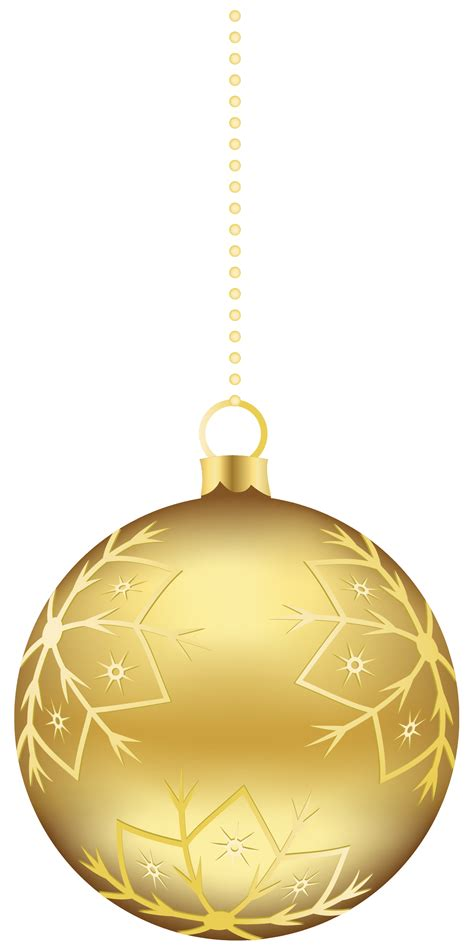 clip art large transparent gold christmas ball ornament