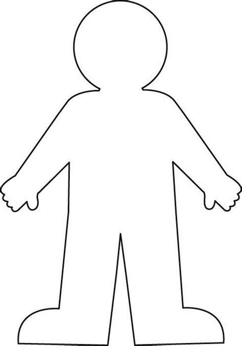 human figure template printable human outline printable