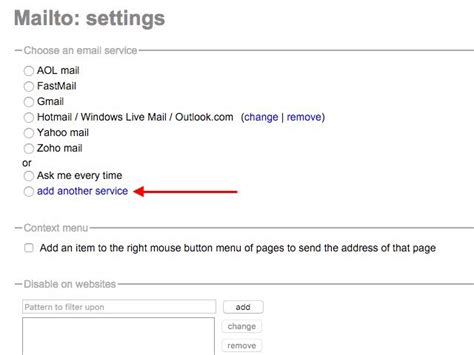chrome extension settings how to change the default email program for mailto links