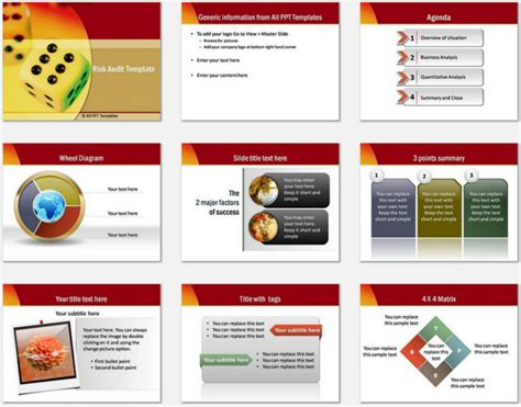powerpoint it templates powerpoint risk audit template