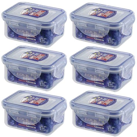 storage containers that lock 6 x lock and lock plastic food storage container 180ml