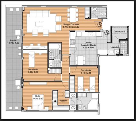 apartamento de 3 habitaciones planos de apartamentos 3 habitaciones