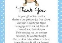 baby shower gift thank you wording sles baby shower ideas