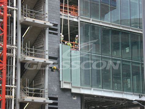 unitized curtain wall installation aluminum curtain walls unitized system glasscon gmbh