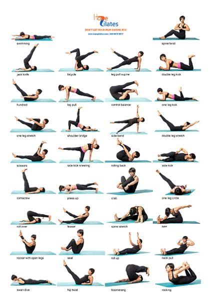 pilates exercises for beginners diagrams 34 classical pilates poses a3 poster pilates