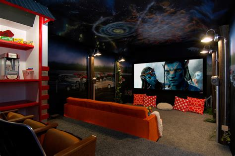 movie theater themed home decor media rooms and theaters