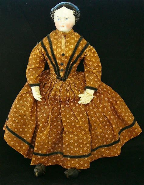 porcelain doll with cloth antique porcelain china clothes doll 16 quot by