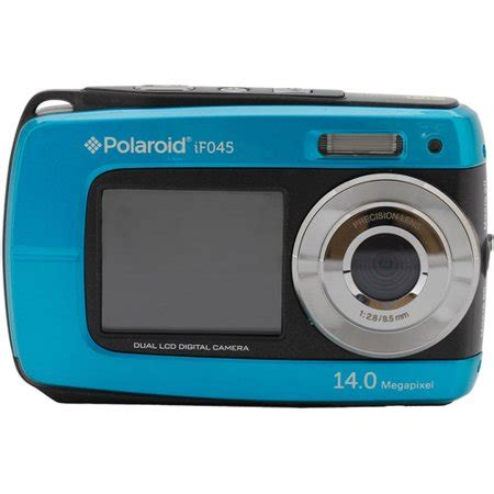polaroid if045 14.1 mp 5x zoom dual screen waterproof