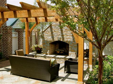 outdoor fireplace pergola 12 amazing outdoor fireplaces and pits diy shed pergola fence deck more outdoor