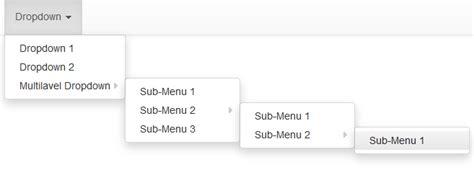 cara membuat menu dropdown di bootstrap cara membuat menu dropdwon multilevel di bootstrap