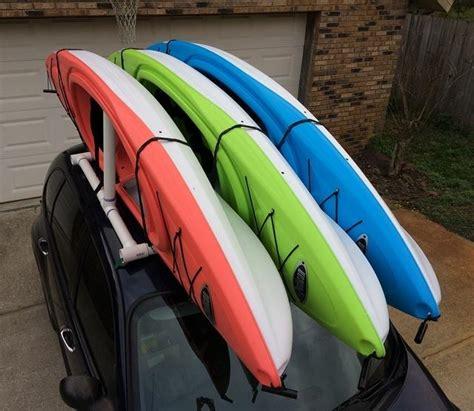 kayak rack car how to make your own car top kayak rack kurt s blog