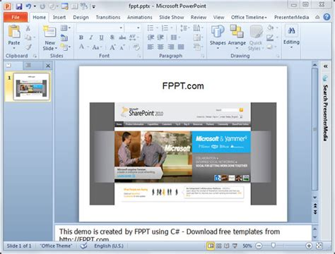 How To Create A Powerpoint Presentation Using C And Embed A Picture To The Slide Using Microsoft Powerpoint Templates