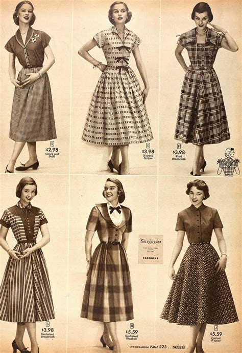 1952 fashions from sears
