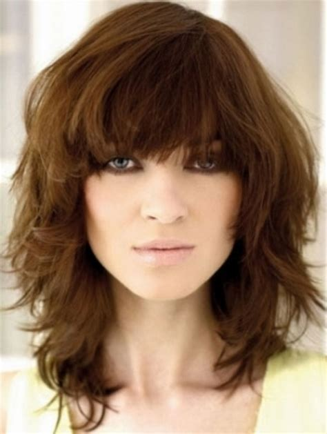 above shoulder layered haircuts shoulder length layered haircuts with bangs