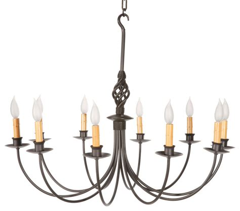 Home Decor Forums by Basketweave Natural Black 10 Light Chandelier Rustic