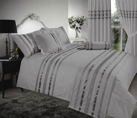 sparkle bedding grey silver stylish sequin duvet cover luxury beautiful