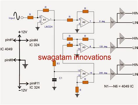 3 phase inverter circuit diagram three phase inverter circuit circuit diagram centre