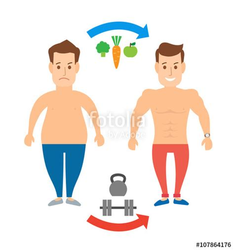 bodybuilding and healthy fats quot transformation concept illustration weight