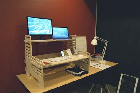 convert desk into standing desk convert any desk into stand up workstation with this