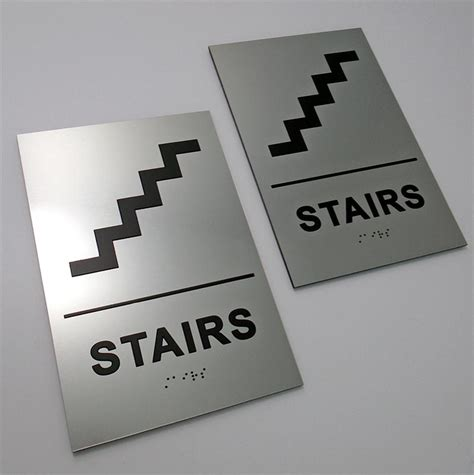 Ada Bathroom Design premium ada stairs signs braille stairs sign