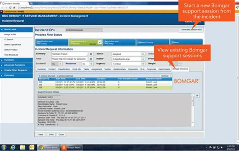 remedy help desk bmc itsm with remote support and secure chat bomgar