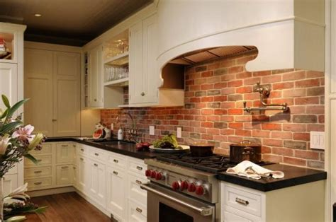 brick backsplashes for kitchens the brick backsplash kitchens