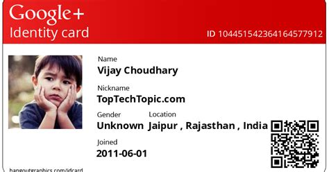google id card design top tech topic how to create personal google id card online