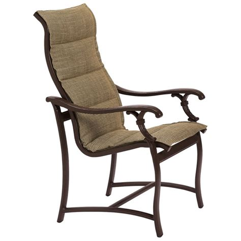 patio chair sling tropitone 650701ps ravello padded sling high back dining